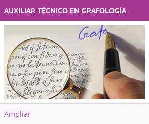 auxiliar tecnico en grafología