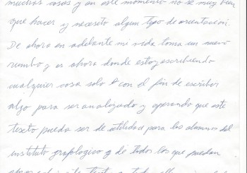 Practica Profesional, Grafoanalista Lorena Silva